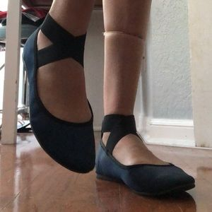 Mossimo Supply Co. Jane Ankle Wrap Ballet Flats